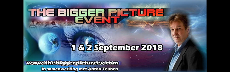 Presentatie Anton Teuben The Bigger Picture Event op 1-2 september 2018 (incl. trailer documentaire)